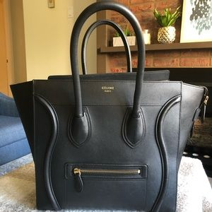 Celine Mini Luggage Smooth Calfskin Black